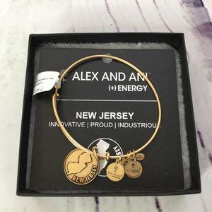 Alex and Ani New Jersey NJ Bangle Charm Bracelet